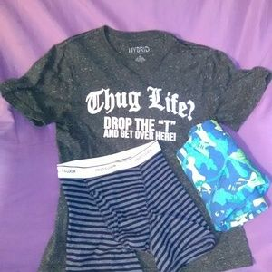 Clothing bundle all size large! Boxers are NWOT!